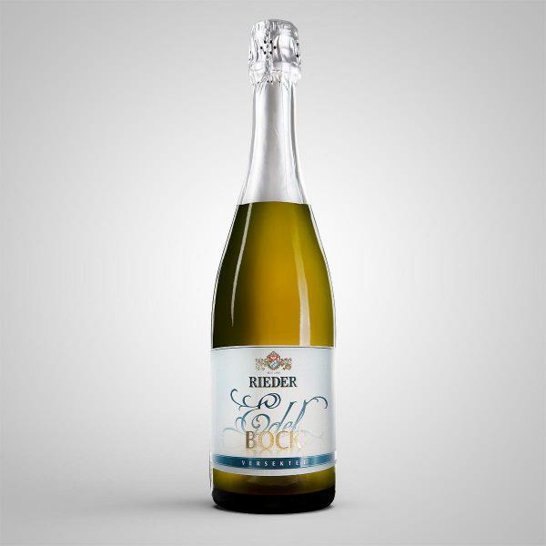 Rieder Edelbock 0,75 l Sektflasche