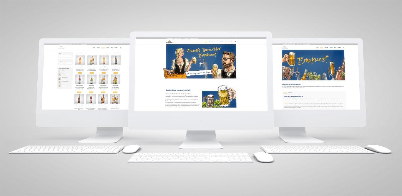Erfrischend neu – die Website der Brauerei Ried