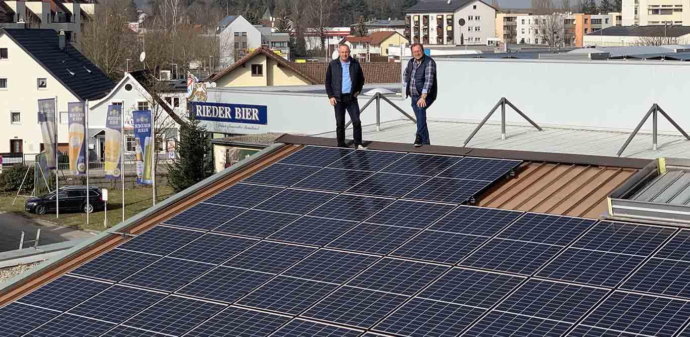 Photovoltaikanlage für Rieder Brauerei